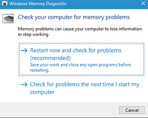 Windows 10 mem check