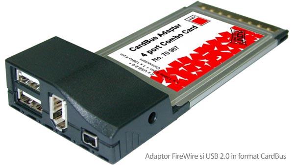 Adaptor Cardbus USB 2.0 Firewire