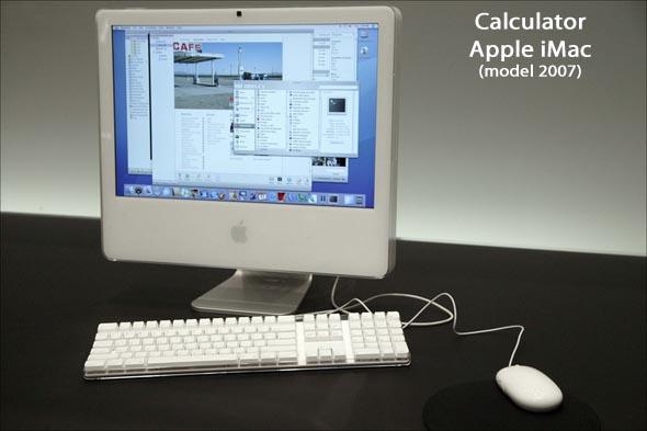 Calculator iMac model 2007