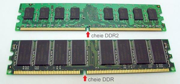 cheie DDR vs DDR2