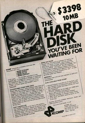 Hard disk 10MB 3398 dolari